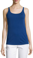 Eileen Fisher Stretch-Silk Long Camisole, Sapphire, Petite