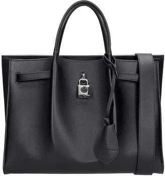 Lanvin Bogey Tote In Black Leather