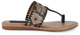 Steven by Steve Madden Mykonos Embossed Leather Thong Sandals