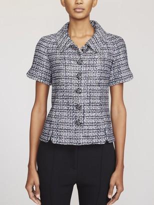 Fivestory Pre-Loved Chanel Short-Sleeve Tweed Jacket FR34