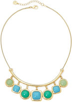 JCPenney MONET JEWELRY Monet Blue and Green Stone Gold-Tone Shower Necklace