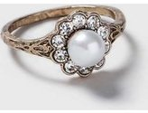 Dorothy Perkins Womens Pearl Flower Ring- Gold
