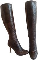 Christian Dior Brown Python Boots