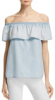 Soft Joie Vilma Chambray Off the Shoulder Top