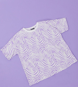 ASOS DESIGN Maternity t-shirt in lilac animal