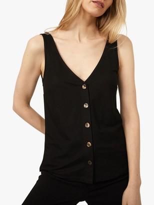 Warehouse Front Button V-Neck Vest