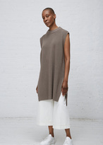 Jil Sander medium grey sl knit tunic