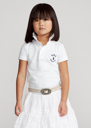 Ralph Lauren Flag Cotton Mesh Polo Shirt