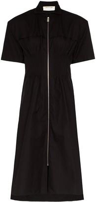 Alyx zip-up midi shirt dress