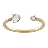 WWAKE Open Rose Cut Diamond Ring