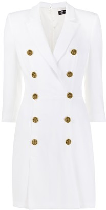 Elisabetta Franchi Double-Breasted Jacket Dress
