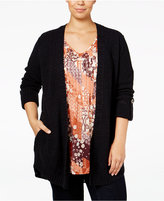 Style&Co. Style & Co. Plus Size Roll-Tab Open-Front Cardigan, Only at Macy's