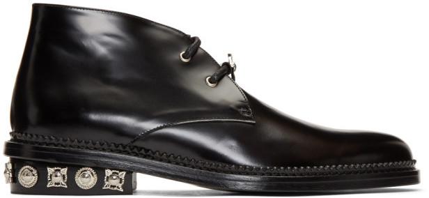 Toga Virilis Black Polished Desert Boots