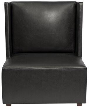 Amato Slipper Chair Latitude Run Upholstery: Black