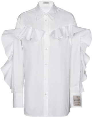 Golden Goose Beata ruffled cotton poplin shirt