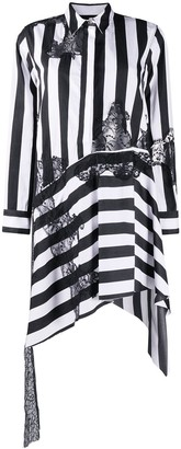 Marques Almeida Striped Asymmetric Shirt Dress