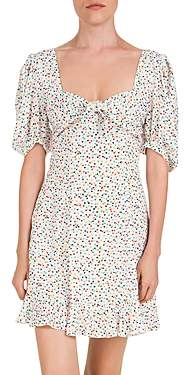 The Kooples Confetti Hearts Ruffled Printed Mini Dress