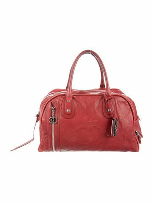 Chanel CC Expandable Bowler Bag red