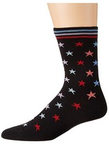 Paul Smith Mila Star Sock (Black) Women's Crew Cut Socks Shoes