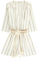 Sessun Sale - Taza Striped Linen and Cotton Playsuit