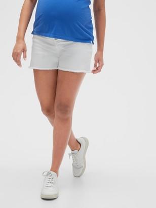"Gap 4"" Maternity Inset Panel Denim Shorts"