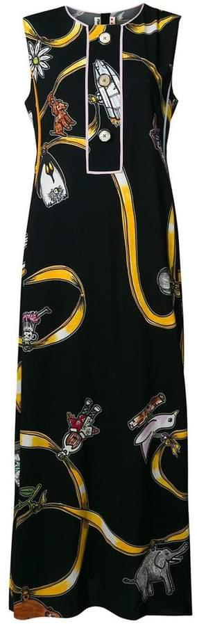 Marni printed sleeveless maxi dress