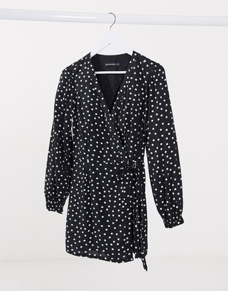 Abercrombie & Fitch wrap dress in polka dot