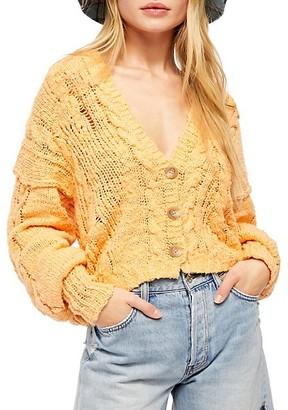 Free People Balloon-Sleeve Knit Cardigan