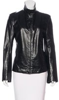 Ann Demeulemeester Leather Collared Jacket