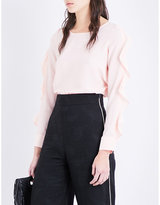 Maje Frilled long-sleeved top