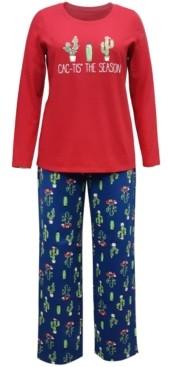 Family Pajamas Matching Women's Cactus The Season Family Pajama Set, Created for Macy's