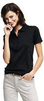 Lands' End Women's Tall Pima Polo Shirt-Rich Sapphire