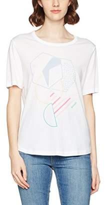 Bench Women's BLWG000281 Regular Fit Crew Neck Short Sleeve T - Shirt - Grey - UK