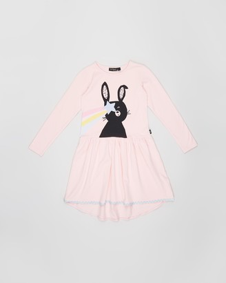 Rock Your Kid Bunny Stars LS Dress - Kids-Teens