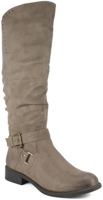 White Mountain Tall Riding Boots - Liona Wide Calf