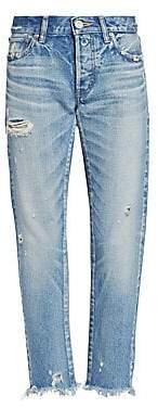 Moussy Vintage Women's MV Kelley Destroyed Tapered Cigarette Ankle Jeans