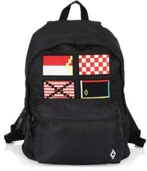 Marcelo Burlon County of Milan Men's Multicolor Flags Graphic Backpack