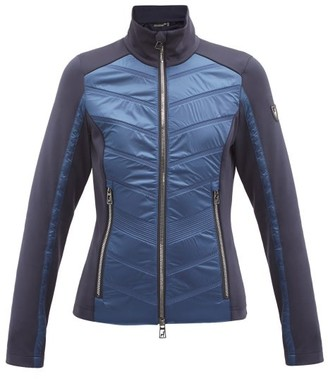 Toni Sailer Aina Quilted-panel Technical Mid-layer Jacket - Dark Blue