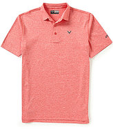 Callaway Golf Opti-Stretch Short-Sleeve Heathered Polo Shirt