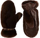 WANT Les Essentiels Women's Fur Mittens-Brown
