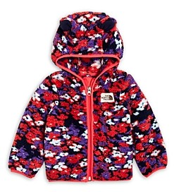 The North Face Girls' Floral Fleece Hoodie - Baby