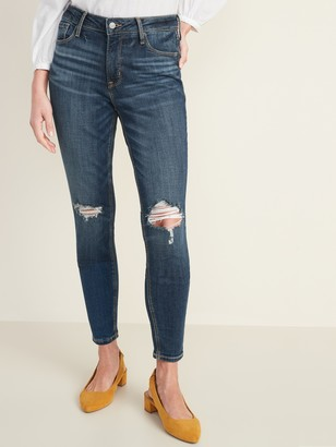 Old Navy High-Waisted Rockstar Distressed Super Skinny Jeans For Women