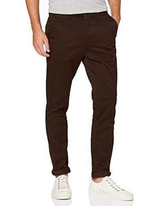Jack and Jones Men's Jjimarco Jjbowie Sa Trouser, Red Chocolate Truffle, (Size: 31)