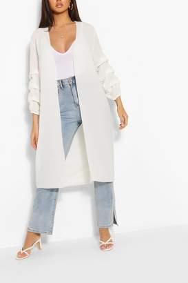 boohoo Ruched Sleeve Kimono