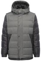 Hugo Boss Jiandro 2-in-1 Down Hooded Jacket, Removable Sleeves L Black