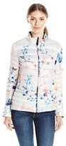 Dawn Levy Women's Lightweight Reversible Printed and Solid Coat