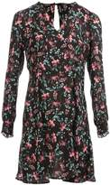 Morgan Flower Print Satin Dress