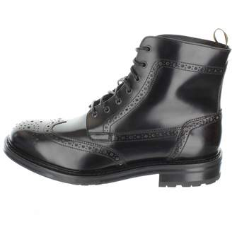 Dunhill Alfred Black Leather Boots
