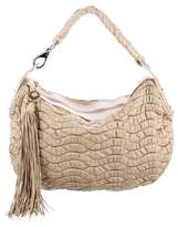 Versace Perforated & Ruched Hobo