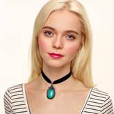 N. ROCK 'N ROSE Zaria Turquoise Choker Necklace